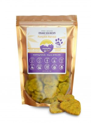 Organic Dog Biscuits- Small Dog Pumpkin 2mg